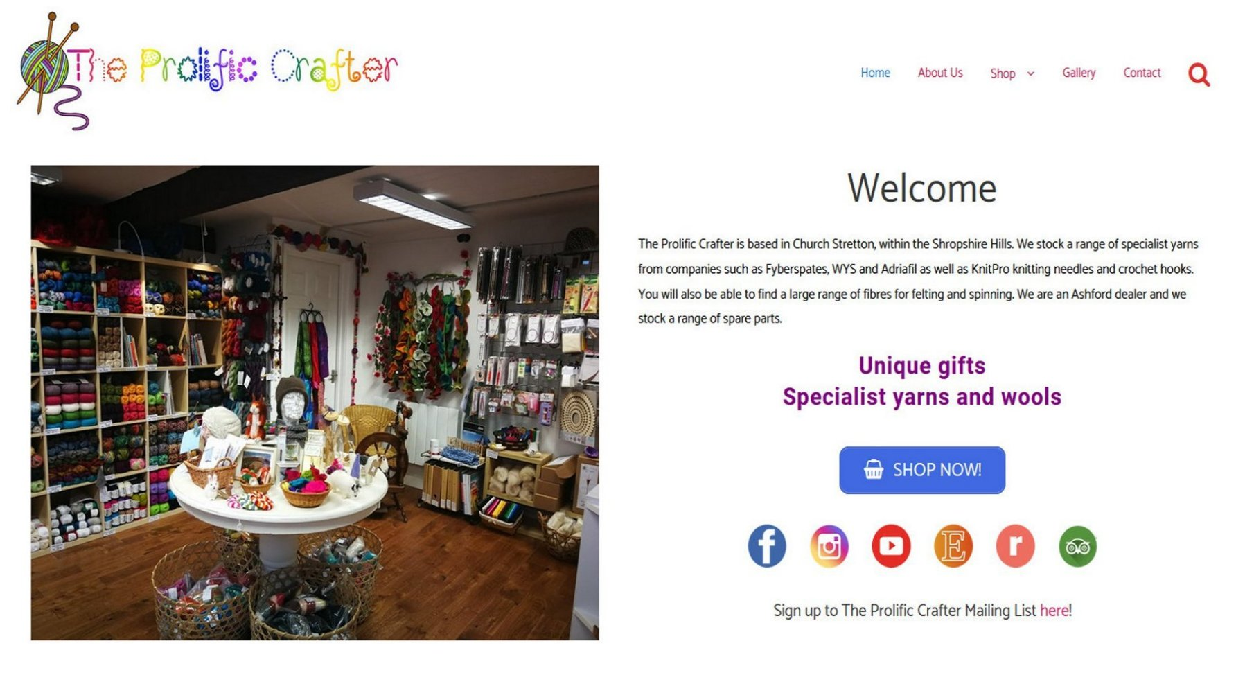 The Prolific Crafter, Church Stretton